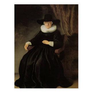 Rembrandt: Maria Bockennolle, Wife of Johannes Postcard