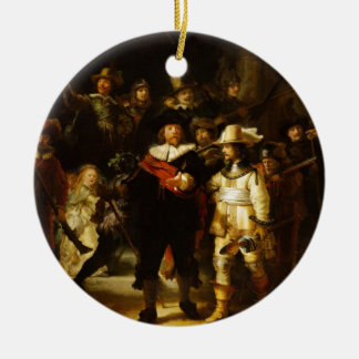 Rembrandt Nightwatch Night Watch Baroque Painting Ceramic Ornament