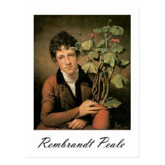 Rembrandt Peale Rubens Peale with a Geranium Postcard