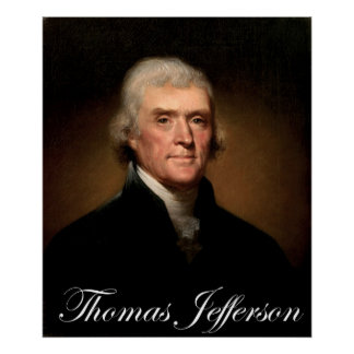 Rembrandt Peale's portrait of Thomas Jefferson Poster