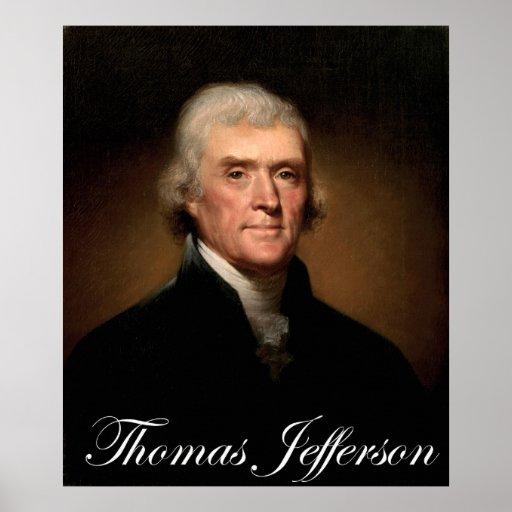 Rembrandt Peale's portrait of Thomas Jefferson Print