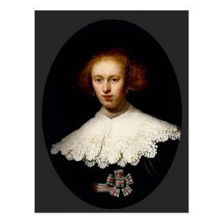 Rembrandt- Portrait of a Young Woman Postcard