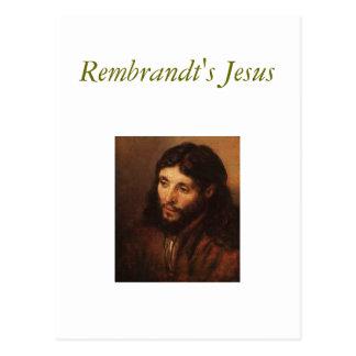rembrandt-portrait-of-christs-head-1650 Rembra Post Cards