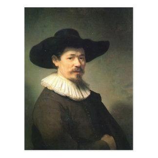 Rembrandt- Portrait of Herman Doomer Postcard