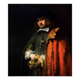 Rembrandt - Portrait of Jan Six Poster