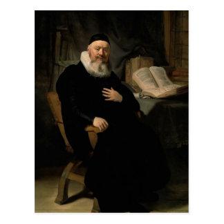 Rembrandt: Portrait-Of-Johannes-Elison Postcard