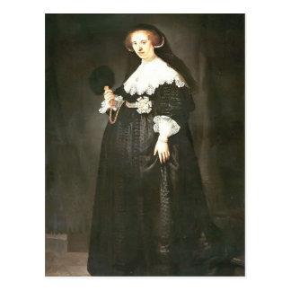 Rembrandt: Portrait of Oopjen Coppit Post Cards