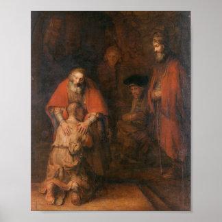 Rembrandt - retour du fils prodigue posters