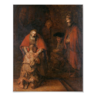 Rembrandt - Return of the Prodigal Son Print