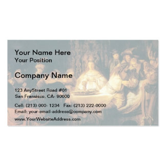 Rembrandt: Samson at the Wedding Business Card