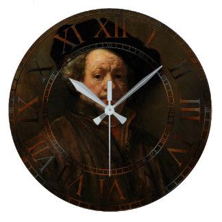 Rembrandt Self-Portrait Fine Art Large Clock