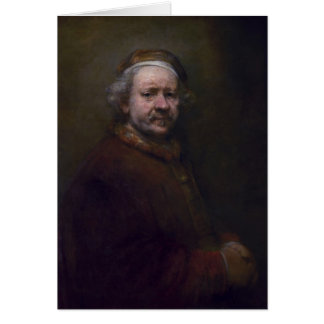 Rembrandt- Self-portrait in at the Age of 63 Card