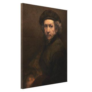 Rembrandt Self Portrait Vintage Fine Art Painting Canvas Print