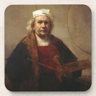 Rembrandt Self-Portrait with Two Circles Coaster