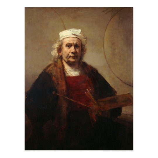 Rembrandt Self-Portrait with Two Circles Postcard