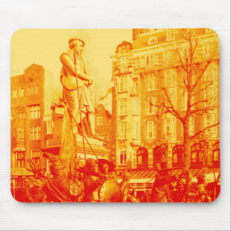 rembrandt statue amsterdam digital photo mouse pad