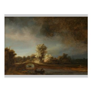 Rembrandt Stone bridge Postcard