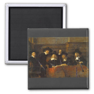 Rembrandt, Syndics of the Clothmakers, with Oboes! Magnet
