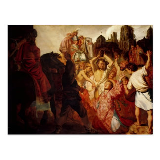 Rembrandt- The Stoning Of St. Stephen Postcard