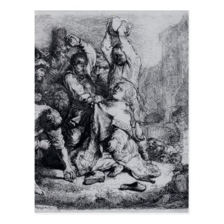 Rembrandt: The Stoning Of St. Stephen Post Card