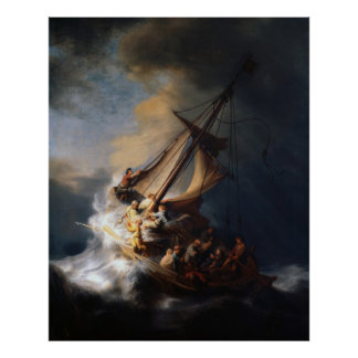 Rembrandt The Storm on the Sea of Galilee Poster