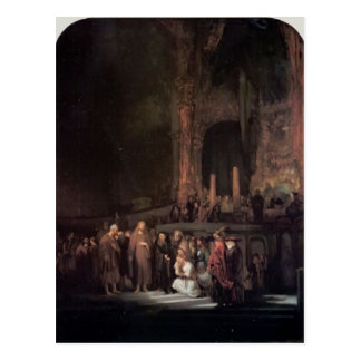 Rembrandt- The Woman taken in Adultery Post Cards