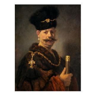 Rembrandt_van_Rijn_-_A_Polish_nobleman Postcard