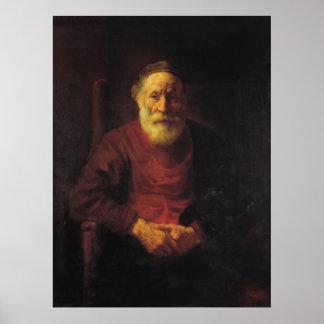 Rembrandt Van Rijn, An Old Man in Red Poster
