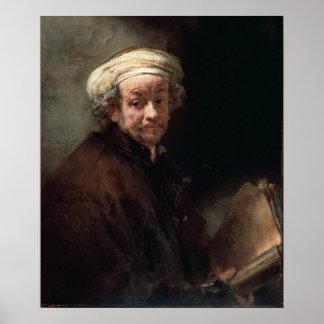 Rembrandt Van Rijn, Autoportret Print