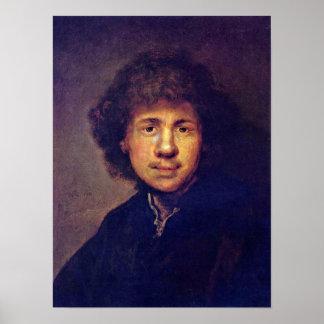 Rembrandt van Rijn - Bust of Rembrandt Poster