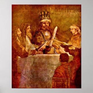 Rembrandt van Rijn - Conspiracy of Batavians Poster