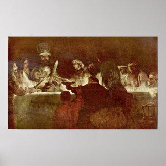 Rembrandt van Rijn - Conspiracy of Batavians Print