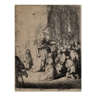 Rembrandt van Rijn - etching Presentation of Angel Print
