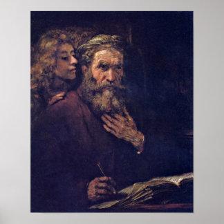 Rembrandt van Rijn - Evangelist Matthew Posters