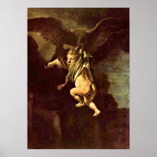 Rembrandt van Rijn - Ganymede in the clutches Poster
