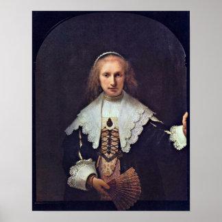 Rembrandt van Rijn - Hendrickje Stoffels Posters