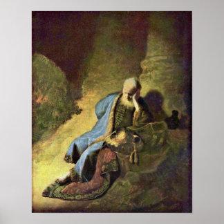 Rembrandt van Rijn - Jeremiah lamenting Poster