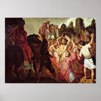 Rembrandt van Rijn - Lapidation of StStephen Poster