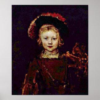 Rembrandt van Rijn - Portrait of a boy Posters