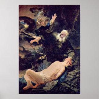 Rembrandt van Rijn - Sacrifice of Isaac Print