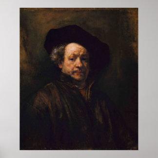 Rembrandt Van Rijn, Self-Portrait, 1660 Poster