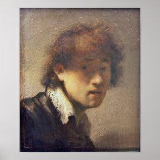 Rembrandt van Rijn - Self portrait at early age Print