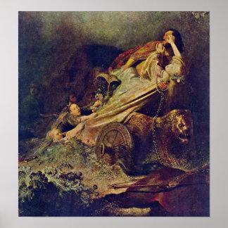 Rembrandt van Rijn - The abduction of Proserpina Poster
