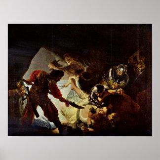 Rembrandt van Rijn - The Blinding of Samson Posters
