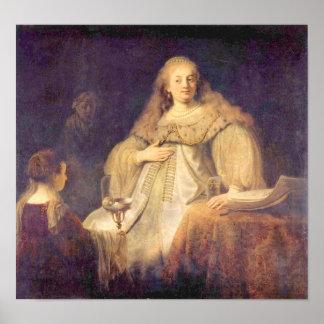 Rembrandt van Rijn - The cup of poison Poster