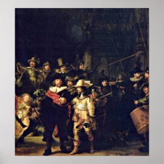 Rembrandt van Rijn - The Night Watch Detail Poster