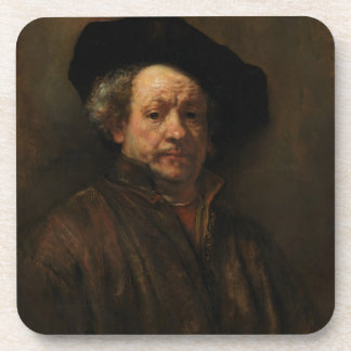 Rembrandt van Rijn's Self Portrait Fine Art Beverage Coasters