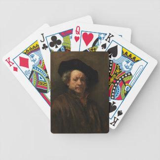 Rembrandt van Rijn's Self Portrait Fine Art Bicycle Playing Cards