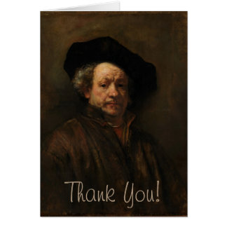 Rembrandt van Rijn's Self Portrait Fine Art Card