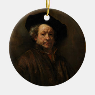 Rembrandt van Rijn's Self Portrait Fine Art Ceramic Ornament